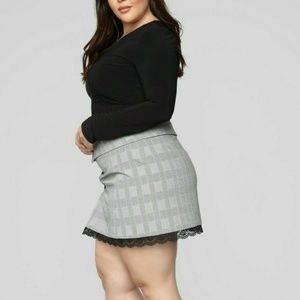 Fashion Nova Only Here For Business Skirt Size 3X